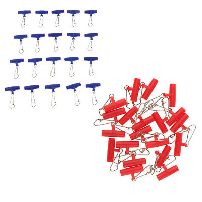 20Pcs Fishing Sinker Slides with Hooked Snap Connector Swivel for Braid Line