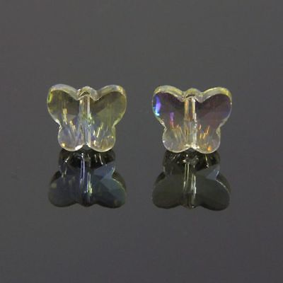 6pcs Swar/ovski 5x6x10mm Butterfly Sparkling Crystal beads C  crystal-yellow