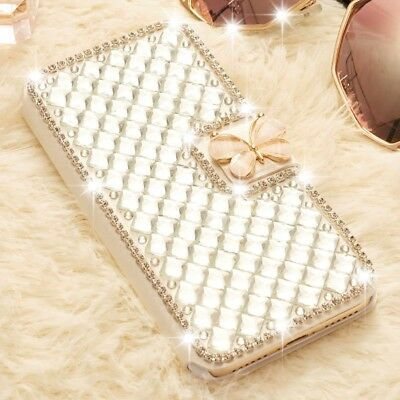 Bling Rhinestone Flip Card Wallet Case Magnetic Cover For iPhone XS MAX XR 6 7 8