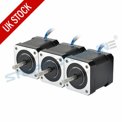 3PCS Nema 17 Stepper Motor 59Ncm 2A 48mm 4-wire 1m Cable for 3D Printer Extruder