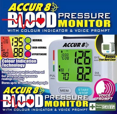 Accur8 Blood Pressure Monitor with FREE case!
