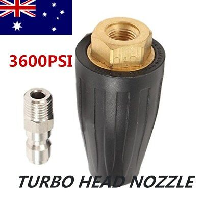 Pressure Washer Turbo Head Nozzle for High Pressure Water Cleaner 3600PSI AU