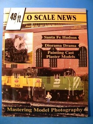 """O Scale News #145 1998 April 48ft Journal for 1/4"""" scale modeling SF Hudson"""