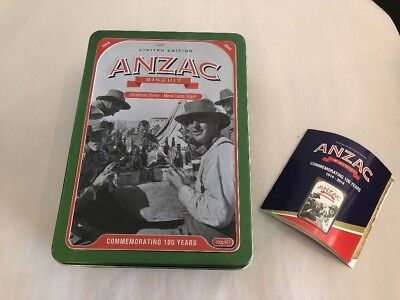 "ANZAC Biscuit Tin - 2014 Commemorating 100 Years ""Christmas Dinner """