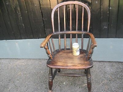Georgian Oak Childs Chair.
