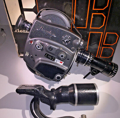 A classic Beaulieu R16 Electric with Berthiot 17-85mm zoom and grip, boxed