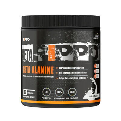 RIPPD Beta Alanine 250g 100% Pure Muscle Pump Pre Workout Energy Booster Powder