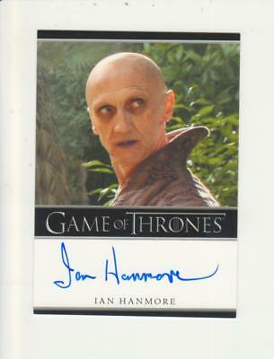 Game of Thrones Bordered Style Autograph Card - Ian Hanmore as Pyat Pree
