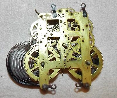 Seth Thomas 89C Clock Movement With Chime Bell Parts No Reserve