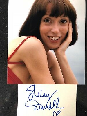 Genuine Hand Signed Shelley Duvalautograph With Portrait Photo