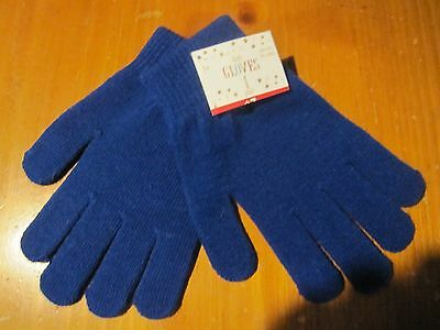 NWT Stretchy Knitted Winter Warm Gloves BLUE