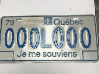 1979 Quebec Sample License Plate