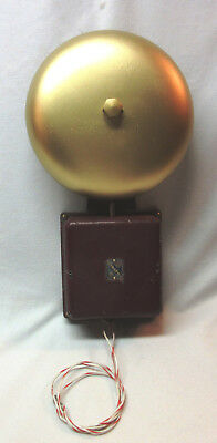 Vintage Edwards Signaling Co. Cast Iron Electric Gong-Type Alarm Bell, Works!