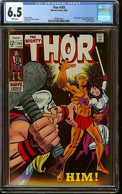 Thor #165 CGC 6.5 (FN+) First Warlock Avengers Movie! WHITE Pages