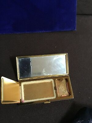 Vintage Volupte Rectangle Rouge And Powder Compact Beautiful Cartouche On Top