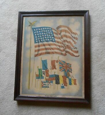"Wwi Era Home Front Framed Print ""for Victory"""