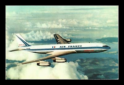 Dr Jim Stamps Boeing 707 Intercontinental Airplane Air France Postcard