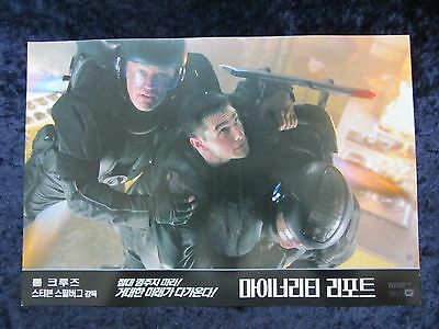 Minority Report  lobby card # KR7 -  Tom Cruise, Colin Farrell, Steven Spielberg