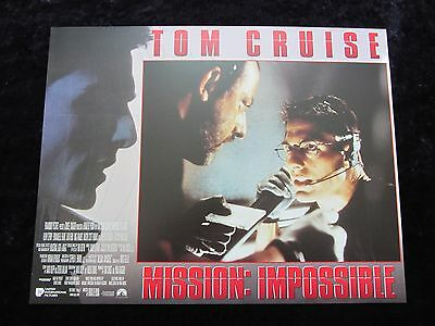 MISSION IMPOSSIBLE lobby card # 3 - TOM CRUISE, BRIAN DE PALMA