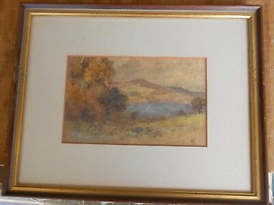 Small Old Impressionist Mountain Painting Signed Initials Mystery Artist