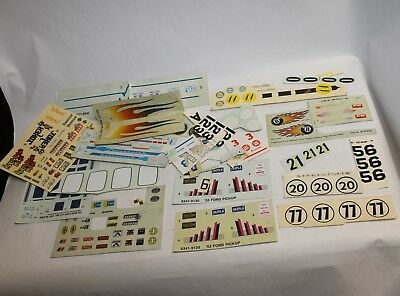 Vintage Lot Of Model Car Decals Stickers Mpc Amt Ertl Revell Monogram