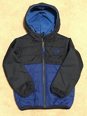 Toddler 4T Reversible baby Boy blue THE NORTH FACE  Insulated Winter jacket
