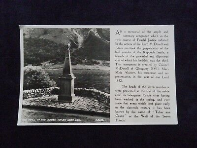 Vintage Scottish Real Photograph Postcard The Well Of The Seven Heads Loch Oich