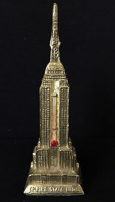 """Vintage Architectural Souvenir 6-1/2"""" Empire State Building W/thermometer"""