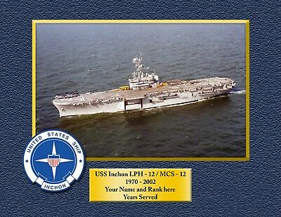 USS INCHON LPH12-MCS12 Custom Personalized Print of US Navy Gift Idea