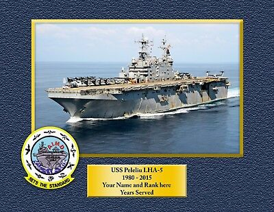 USS PELELIU LHA5 Custom Personalized Print of US Navy Gift Idea