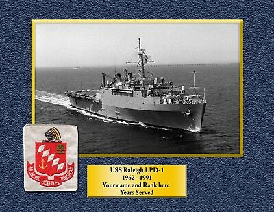 USS RALEIGH LPD1 Custom Personalized Print of US Navy Gift Idea