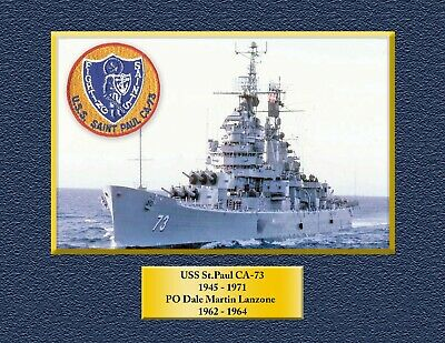 USS ST PAUL CA73 Custom Personalized Print of US Navy Gift Idea
