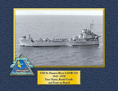 USS ST FRANCIS RIVER LSMR 525 Custom Personalized Print of US Navy Gift Idea