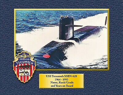 USS TECUMSEH SSBN628 Custom Personalized Print of US Navy Gift Idea