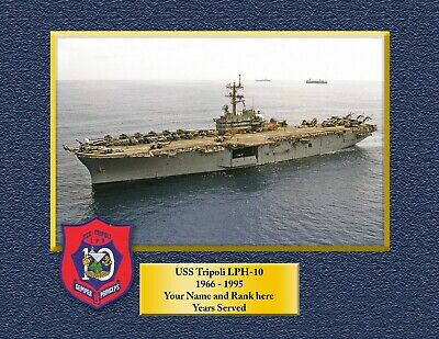 USS TRIPOLI LPH 10 Custom Personalized Print of US Navy Gift Idea
