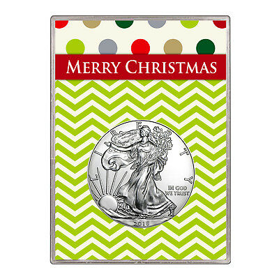 2018 $1 American Silver Eagle Gift Holder – Merry Christmas Design
