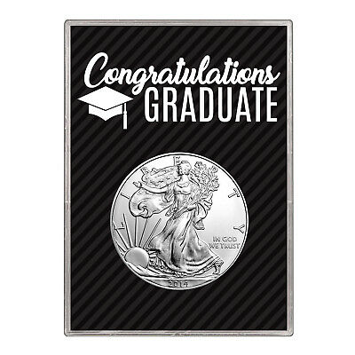 2014 $1 American Silver Eagle Gift Holder –  Graduation Design