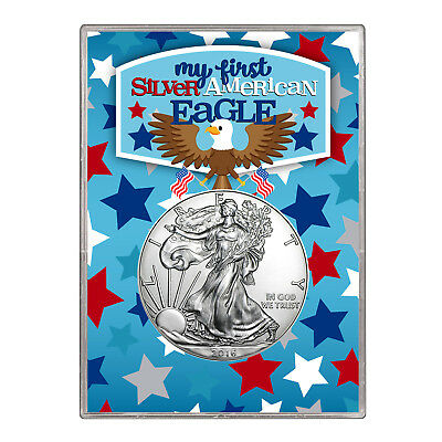 2016 $1 American Silver Eagle Gift Holder –  First Silver Eagle Design