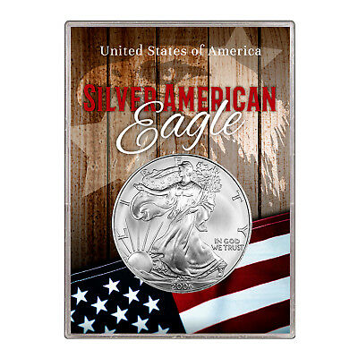 2006 $1 American Silver Eagle Gift Holder –  Flag and Eagle Design