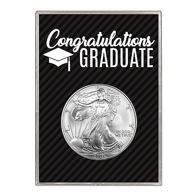 2005 $1 American Silver Eagle Gift Holder –  Graduation Design