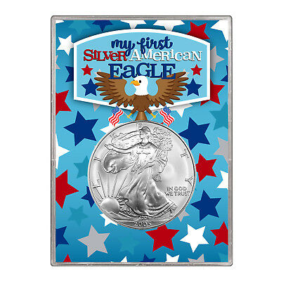 2005 $1 American Silver Eagle Gift Holder –  First Silver Eagle Design