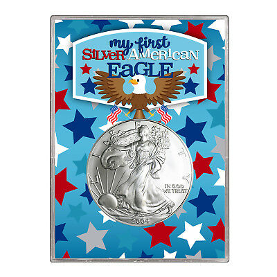 2004 $1 American Silver Eagle Gift Holder –  First Silver Eagle Design
