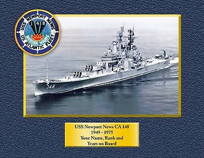 USS NEWPORT NEWS CA148 Custom Personalized Print of US Navy Gift Idea