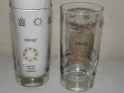Pair Drinking Glasses Expo 67 Montreal Canada World's Fair