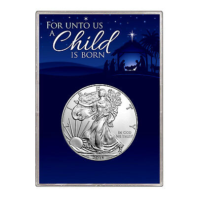 2015 $1 American Silver Eagle Gift Holder – Christmas Nativity Design
