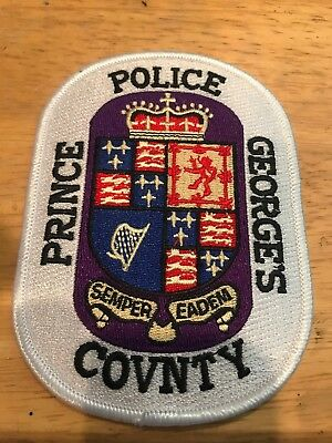 Prince George's County Maryland Md Police Patch