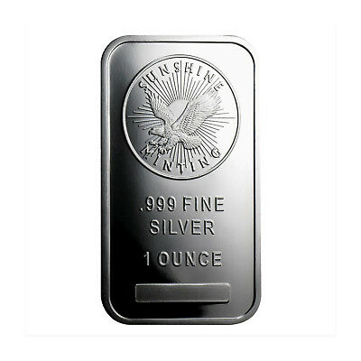 1 Ounce Sunshine Minting .999 Silver Eagle Bar