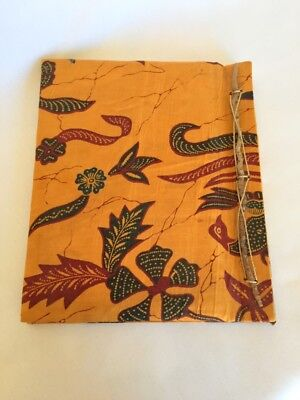 """Old Fashioned Nice Floral Handmade Photo Album Photograph Paper 40 Photos 4""""x 6"""""""