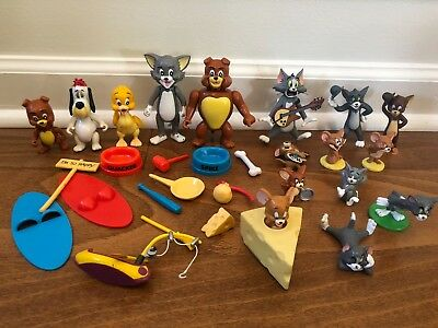 1989 Tom & Jerry Spiky Tyke Droopy Dog Quakers figure LOT McFarlan Turner Xonex