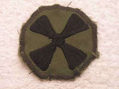 Us 8Th Army Rugged Vietnam War Worn Theater Made Patch Authentic & Original  !!